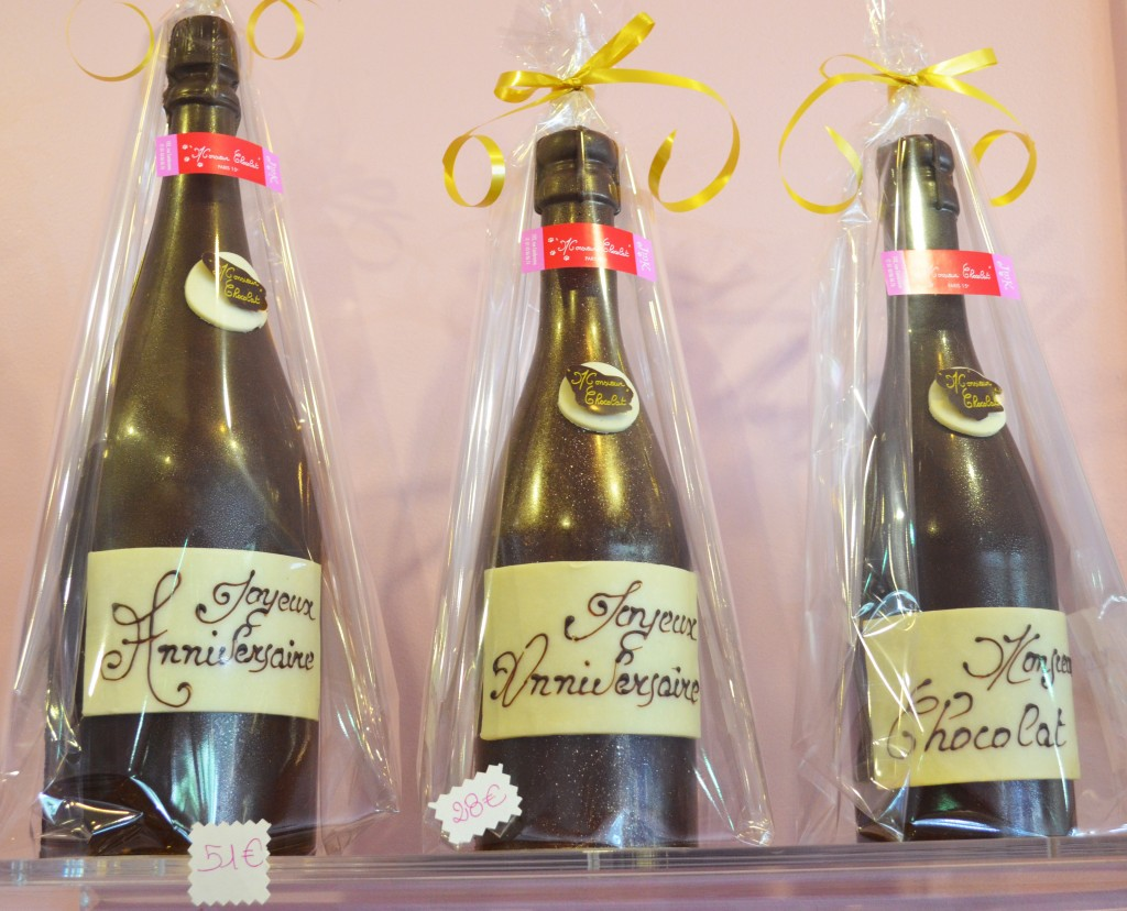 Bouteilles de Champagne en Chocolat