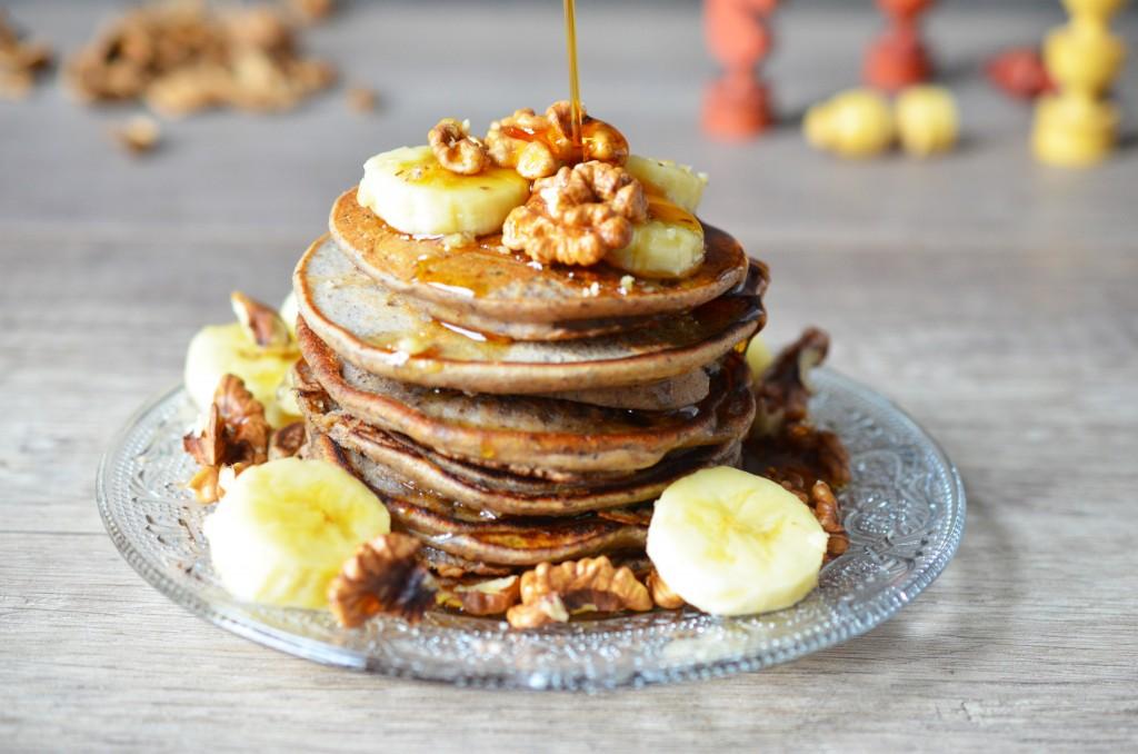 Pancakes Vegan et sirop d'érable