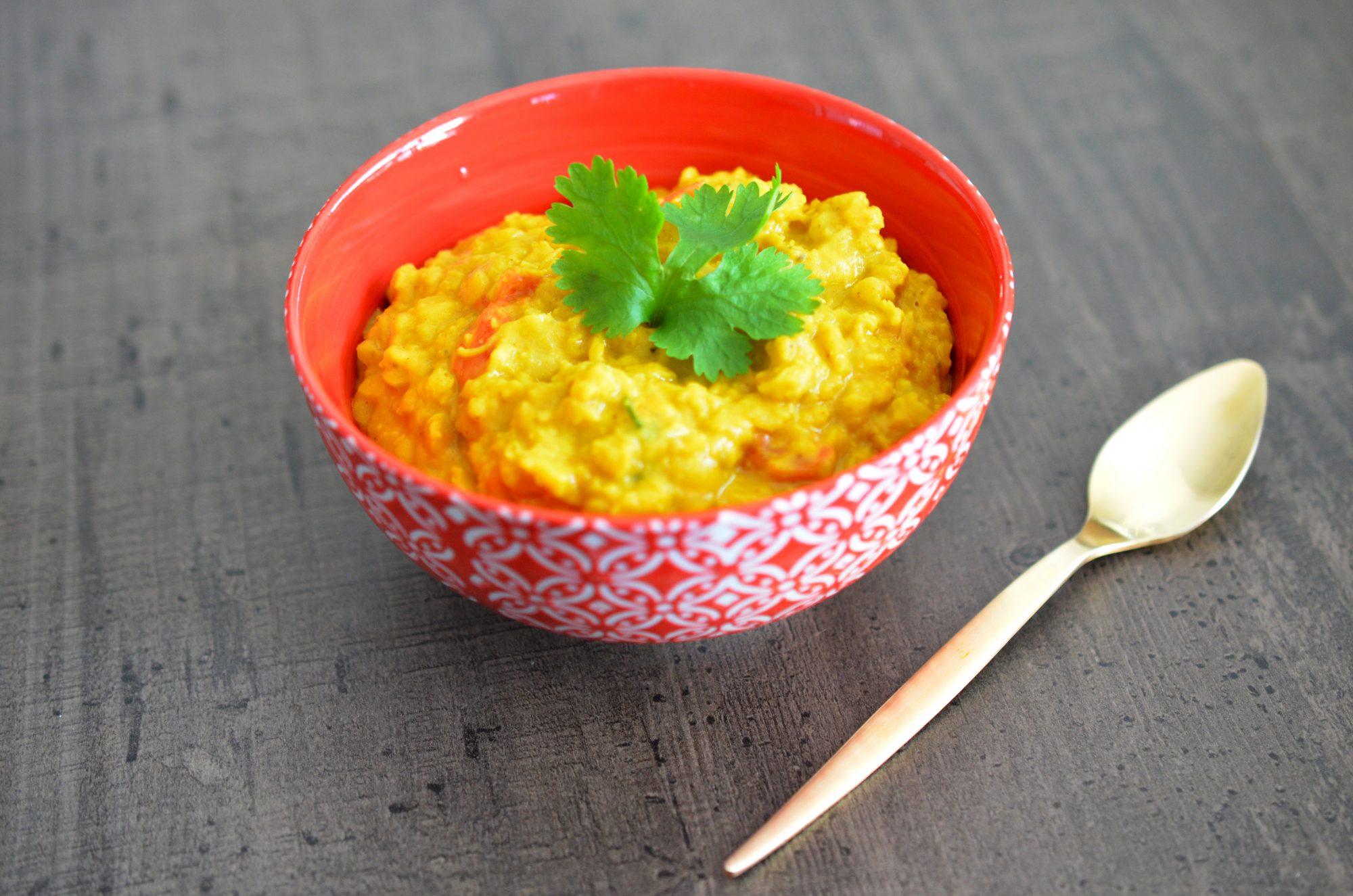 Curry de lentilles corail au coco