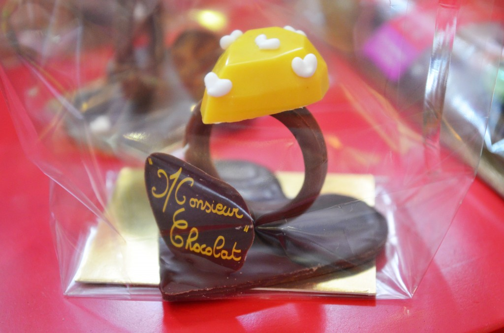 Bague en chocolat