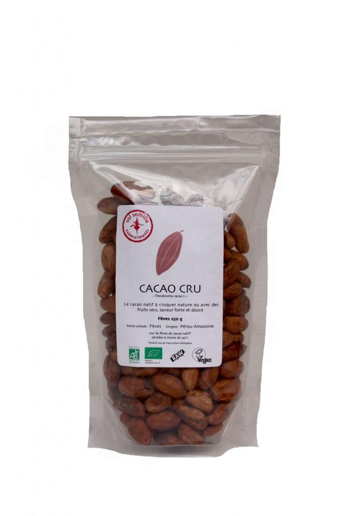 Cacao cru fèves 250 g V2