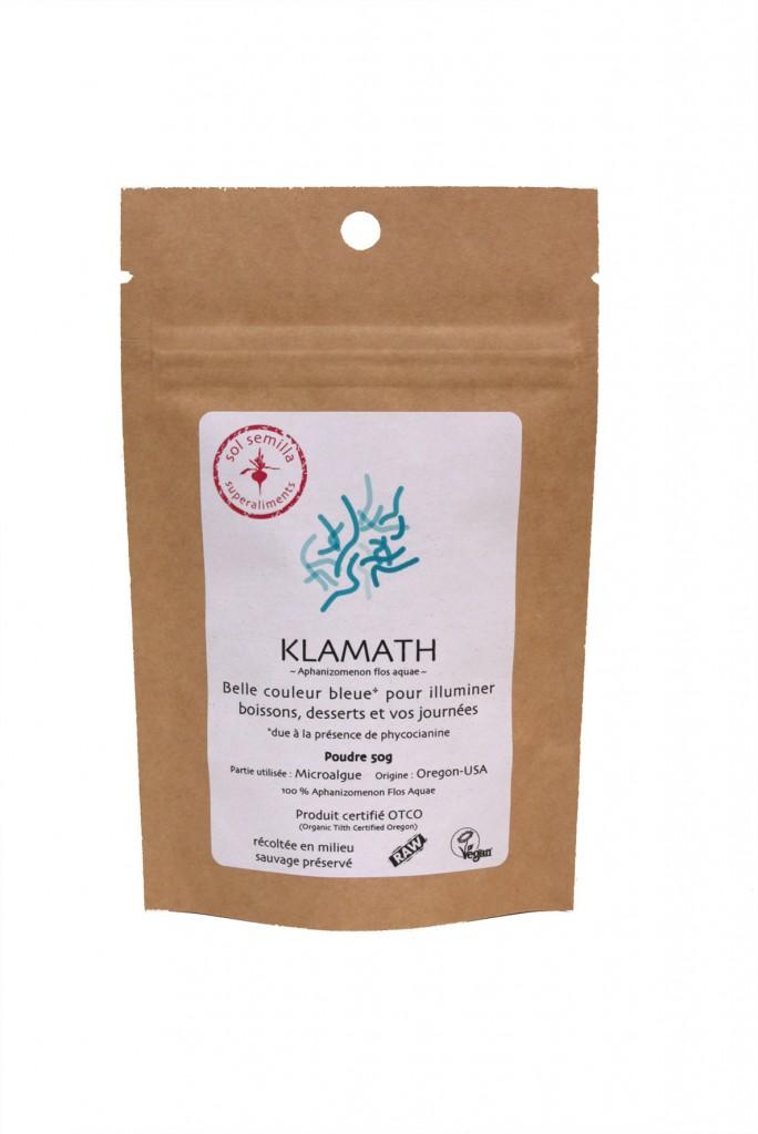 Klamath crue Bio poudre 50 g Sol Semilla super aliment