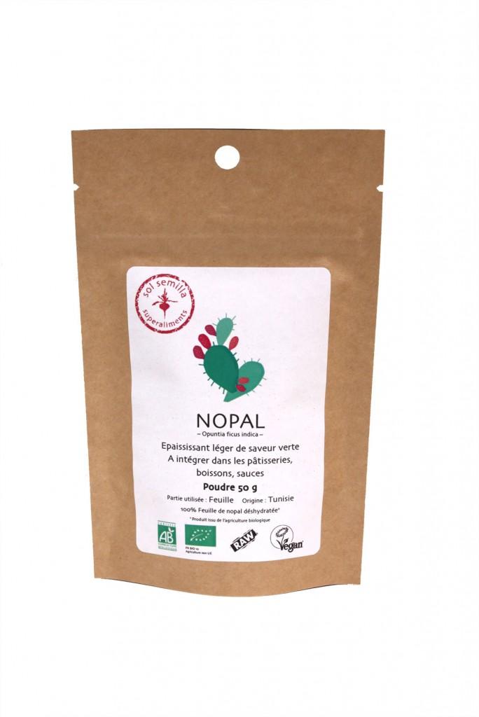 Nopal cru Bio 50 g Sol Semilla super aliment