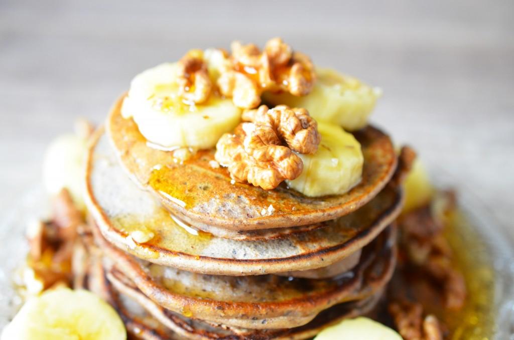 Zoom pancakes vegan à la banane