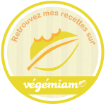 Retrouvez mes recettes sur vegemiam.fr